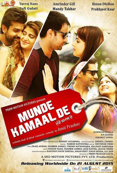 Poster Of Munde Kamaal De 2015 720p DVDRip Punjabi Movie Download