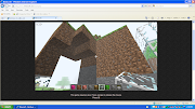Minecraft house. Glass house. the start of a cave house