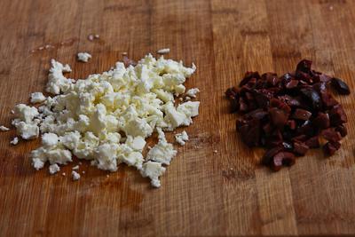 ... Mediterranean Tostadas Recipe with Hummus, Feta, and Kalamata Olives