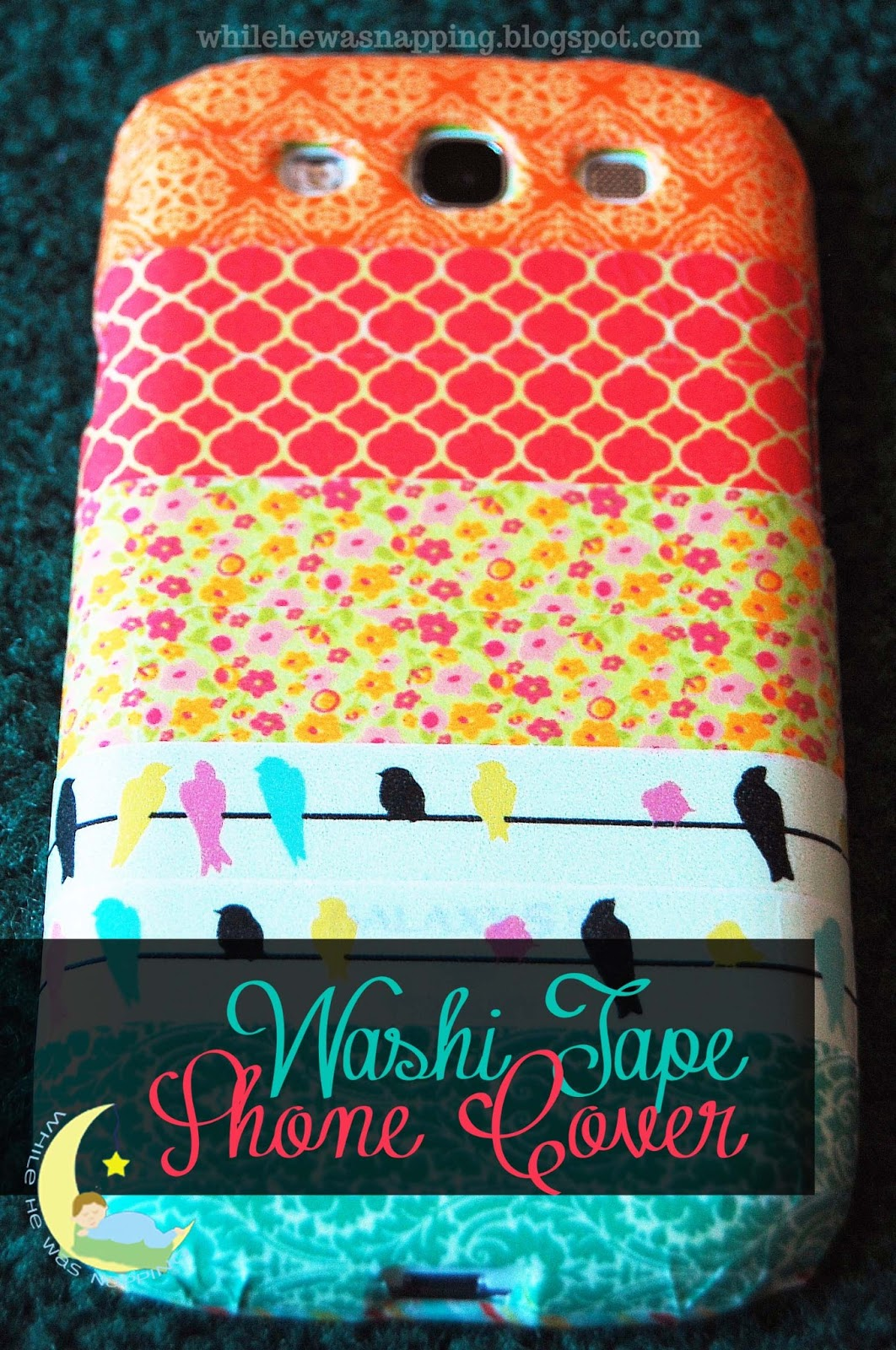 Someday crafts washi tape phone cover for Washi tape phone case