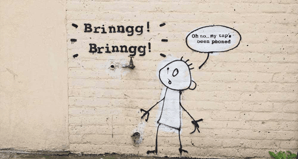 Banksy gets tap phoned