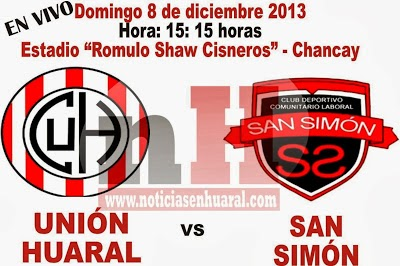 UNION HUARAL vs SAN SIMON EN VIVO
