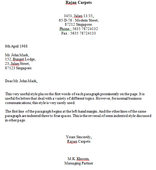 The styles and types of business letter thecheapjerseys Images