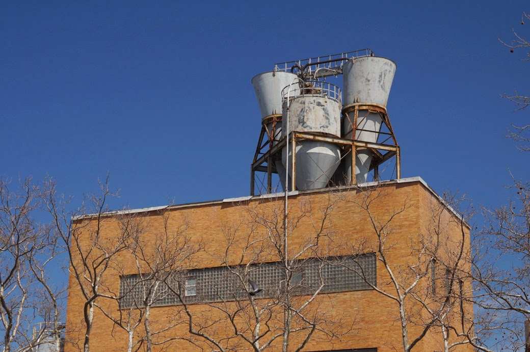 Manufacturing equipment on roof of Harte & Company building
