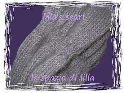 La mia lilla's scarf ai ferri con le spiegazioni / My knitted lilla's