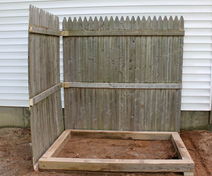 Using the fence posts, build a frame to act as the base. Screw the ...