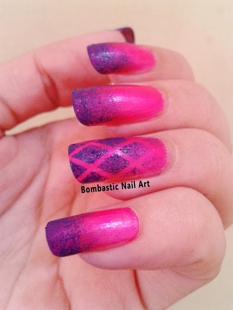 Day 11 Pink Purple Ombre Nails Bombastic Nail Art