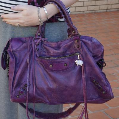 balenciaga sapphire city handbag