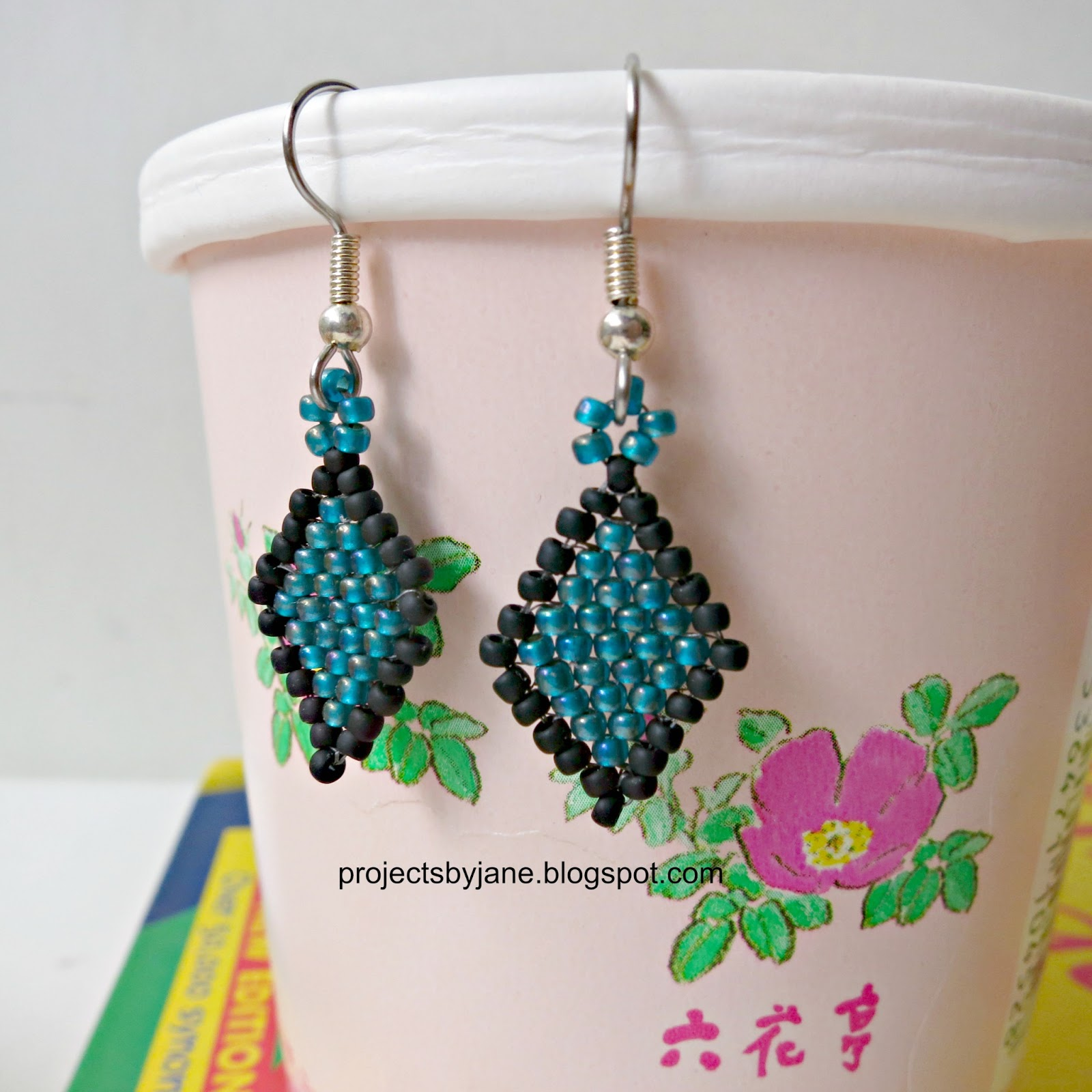 Brick Stitch Earrings in Beading http://projectsbyjane.blogspot.com/2013/03/how-old-were-you-when-you-had-your-ears.html