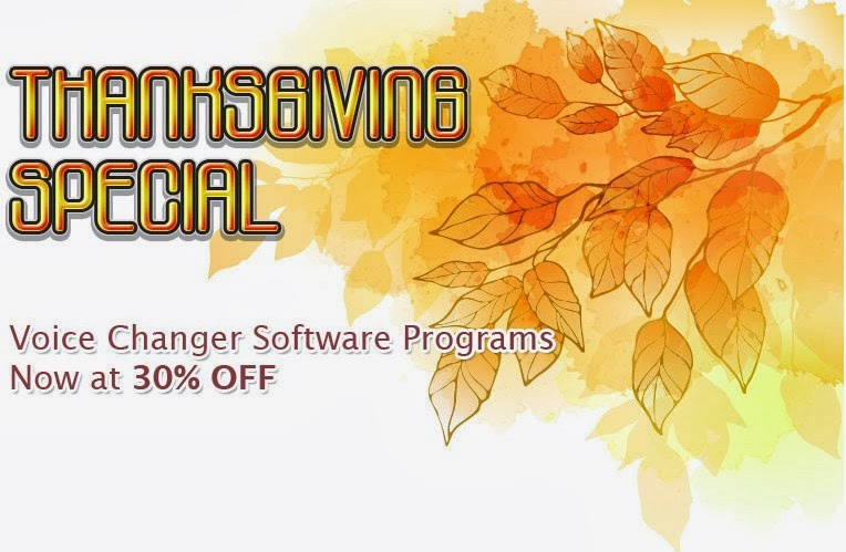 Thanksgiving Special Coupon for Voice Changer Software