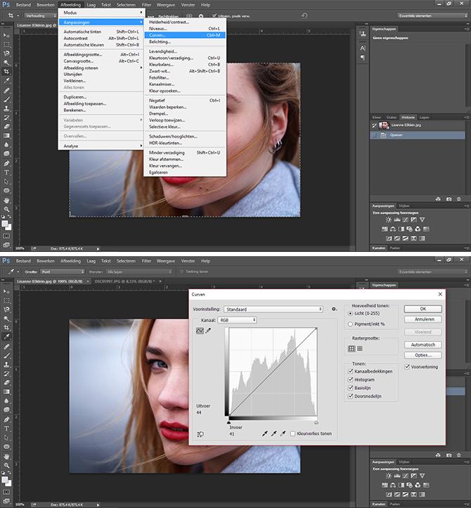 curven bewerken Photoshop