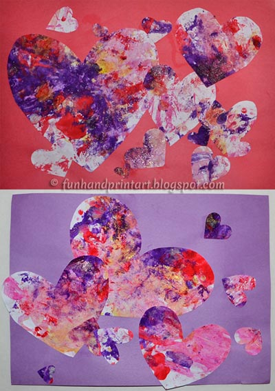 Valentine's Day Heart Collage - Toddler & Preschooler Craft