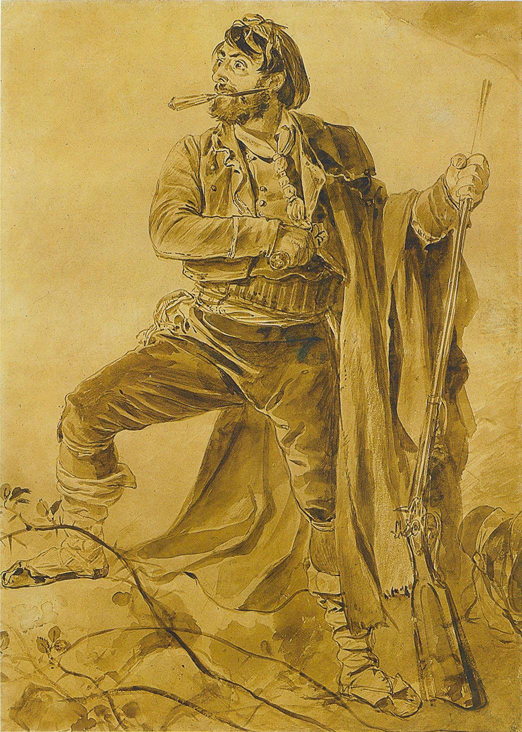 Karl   riullov  Greek  insurgent