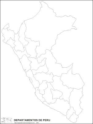 Mapa politico de PERU para pintar