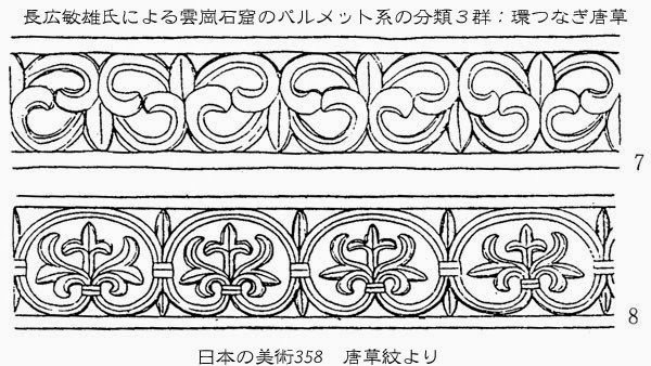 『唐草紋』は、若草伽藍跡から出土した手彫り唐草紋軒平瓦は、羽状に反転し... 忘れへんうちに A
