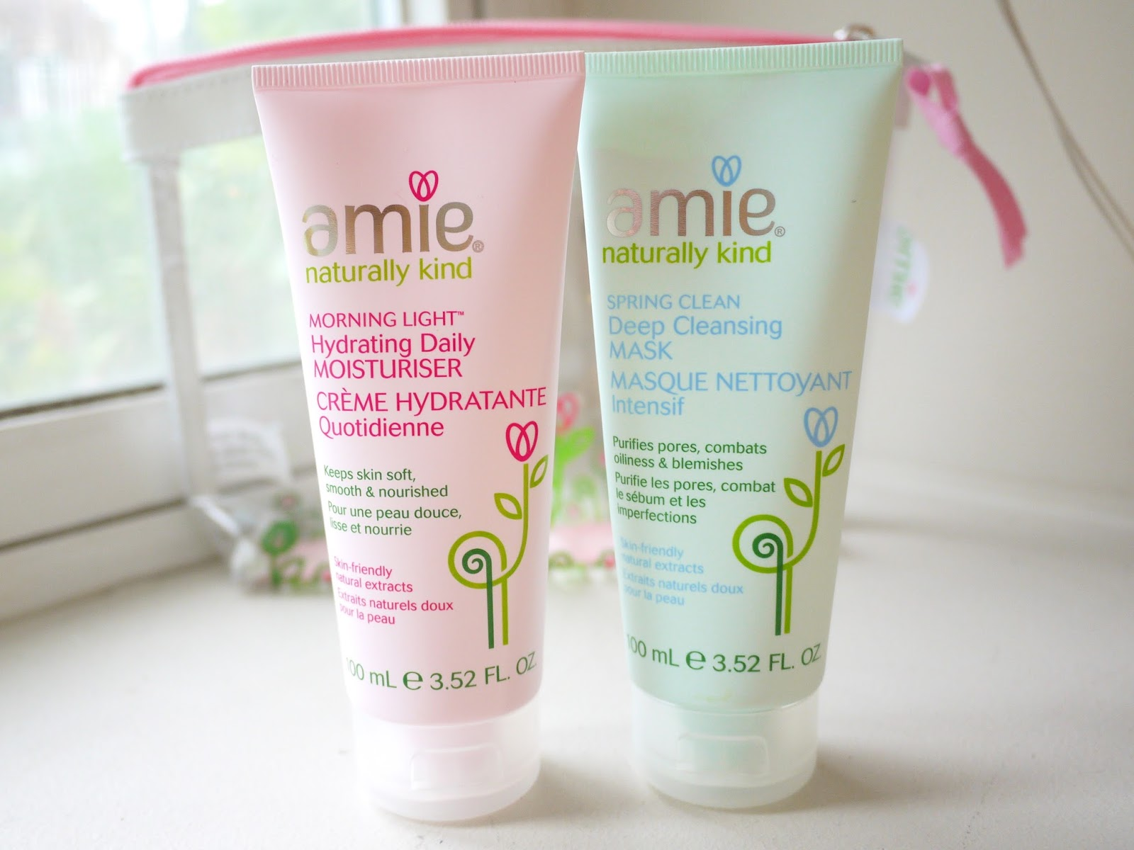 amie naturally kind skincare review morning light hydrating daily moisturizer spring clean deep cleansing mask