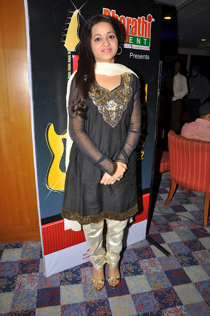 Reshma in black Churidar suit - Reshma at Big Telugu Music Awards 2012 in black Churidar suit