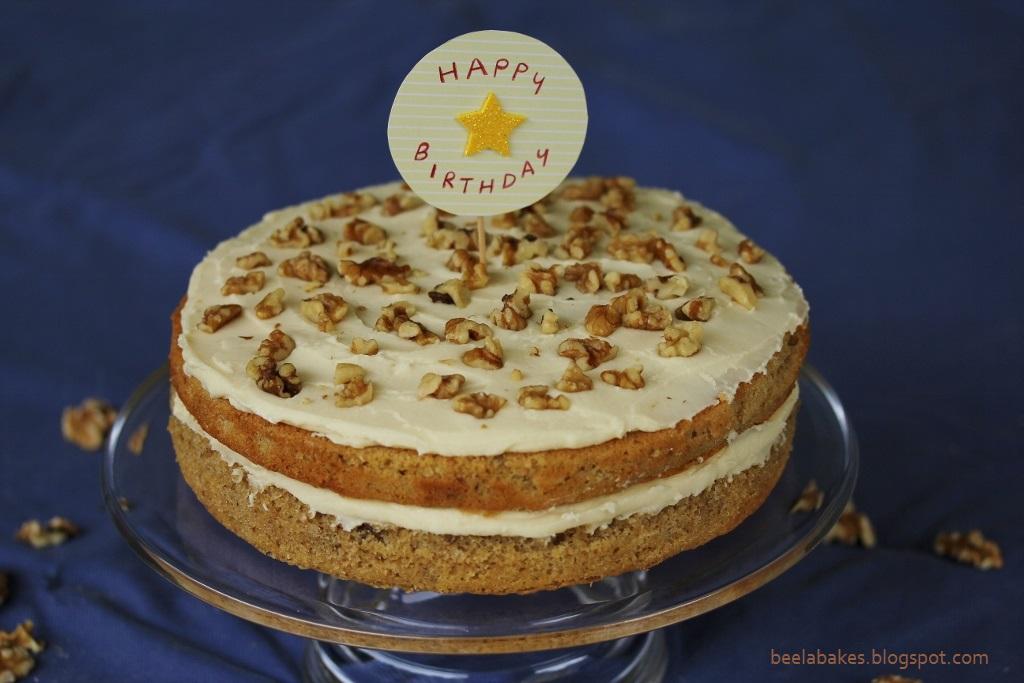 Coffee And Walnut Cake Dads Birthday Beela Bakes