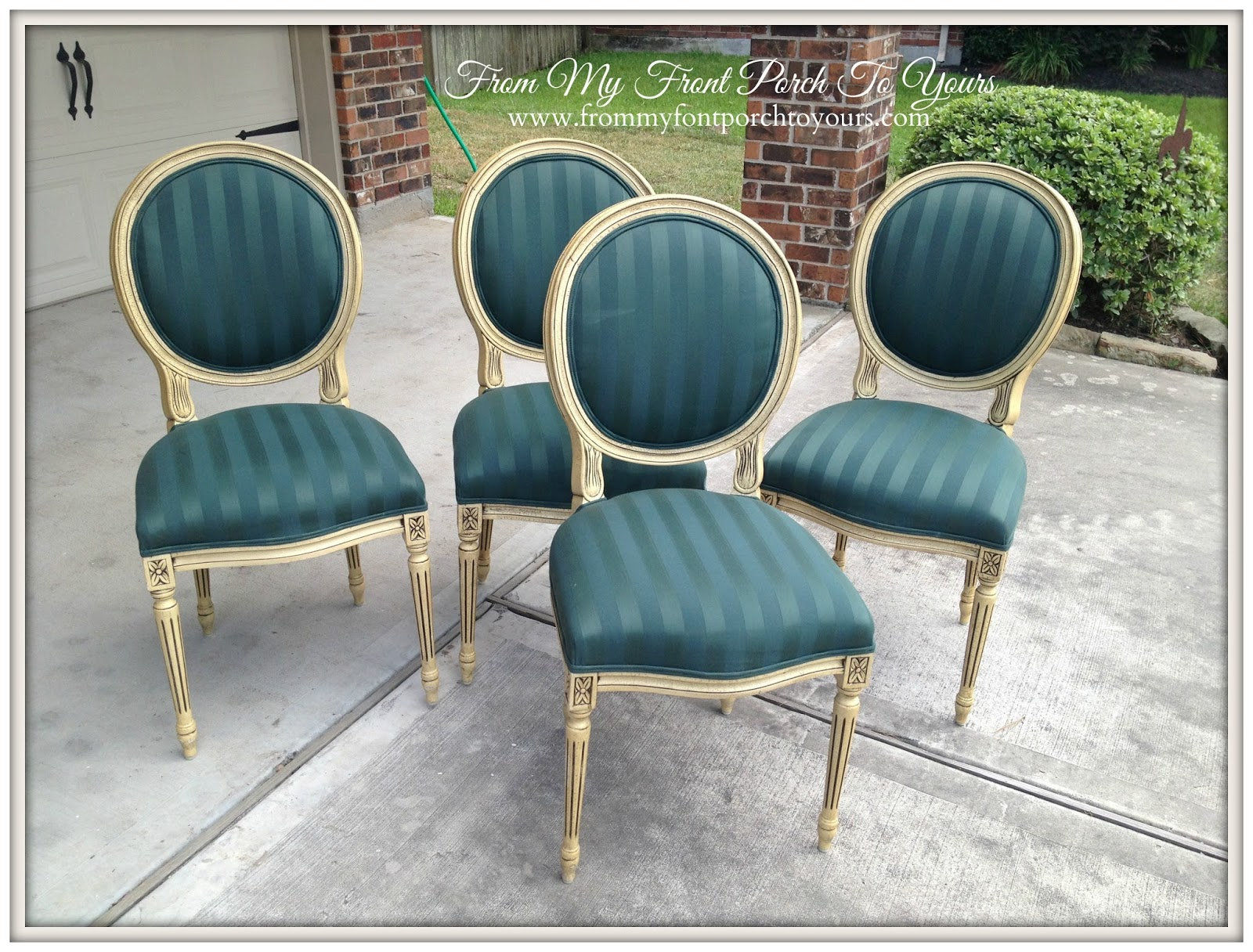Painted fabric chairs - From My Front Porch To Yours Painting Fabric With Chalk Paint