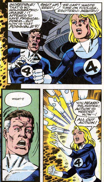Fantastic Four 370 Reed Sue shut up reed
