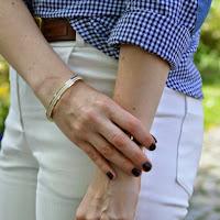 selbstgenähte weiße Jeans