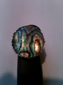 Paua Shell Crystal Ring