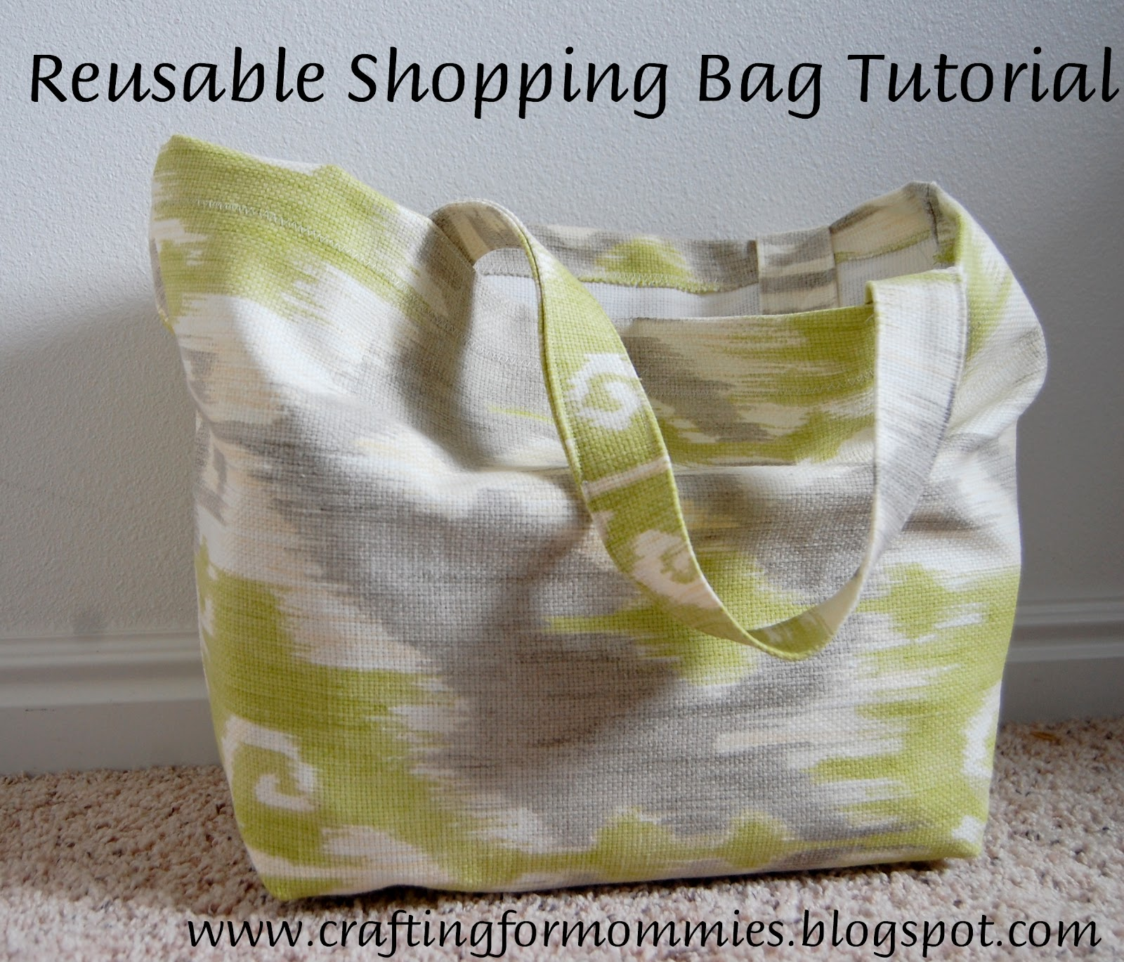 Reusable Ping Tote Tutorial