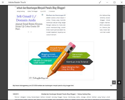 Cara Mudah Menyimpan Halaman Website ke PDF