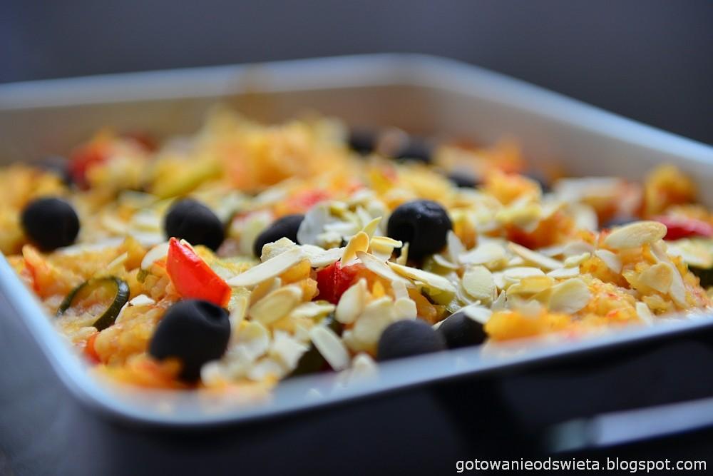 Paella wegetariańska z cukinią