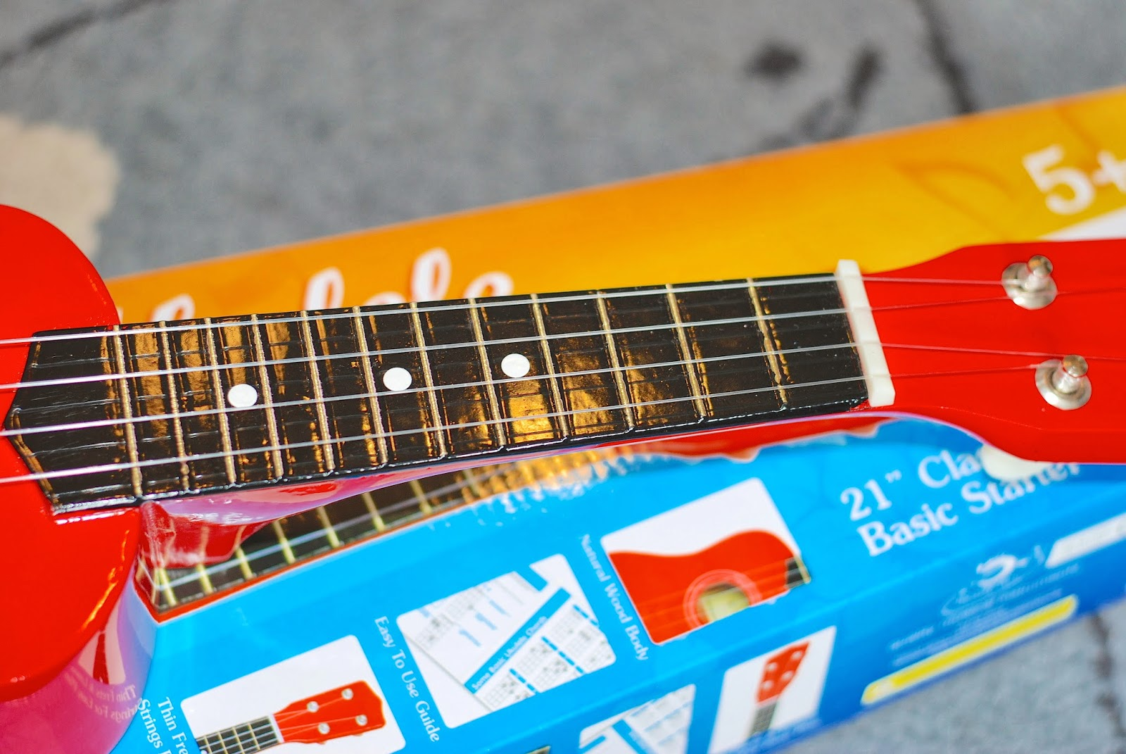 Ready Ace Ukulele fingerboard