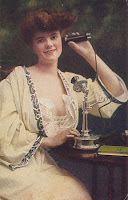 Woman with phone circa 1910