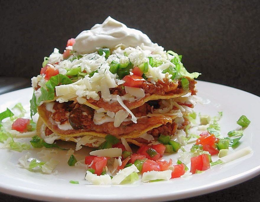 Ground beef tostada makeover