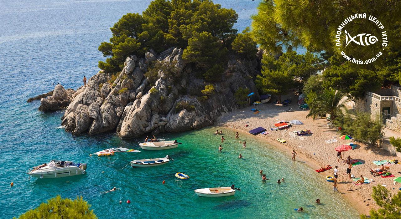 На пляже в хорватии фото
