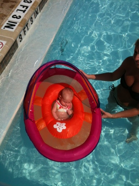 Organized chaos infant pool float review 3 month old baby swimming pool