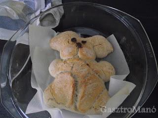 nyuszi alakú kenyér