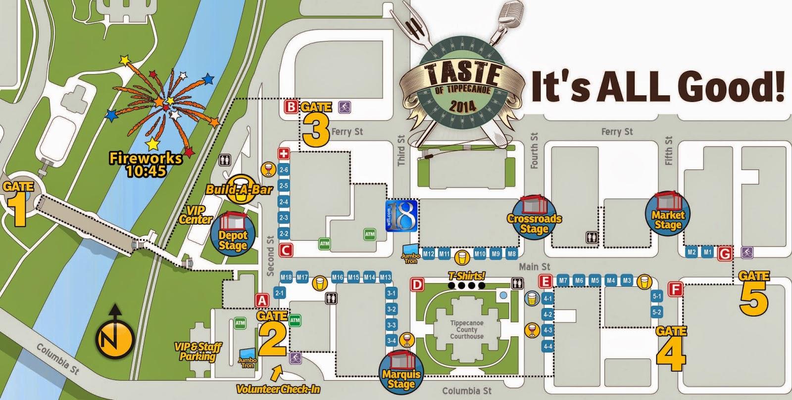 taste of tippecanoe 2014 event map