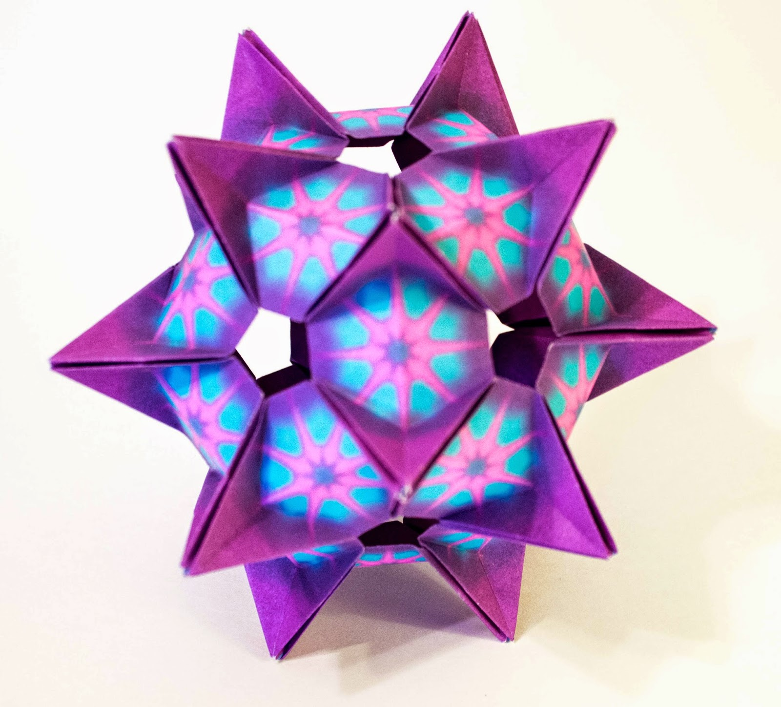 Will Fold For Paper Kusudama Crystal Star Design By Denver Lawson