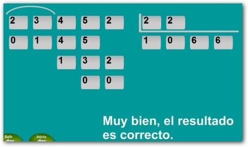 Juguemos a las Matemáticas: Divisiones