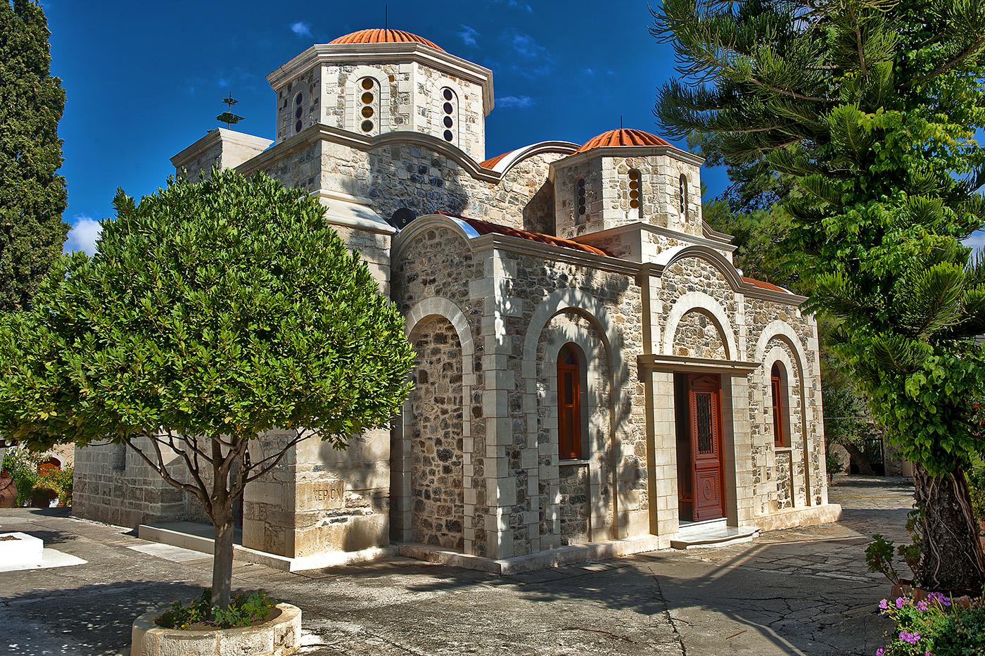 A monastery on Crete, Greece