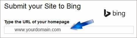 Submit URL to bing