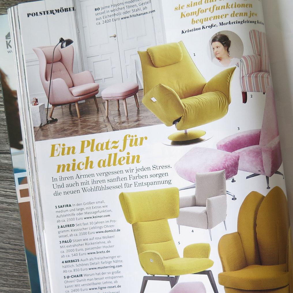 magazine design chair