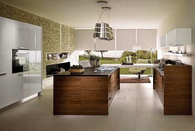 3300 1 or 1401695893 تصميم وديكور مطبخ بمساحة كبيرة بالصور