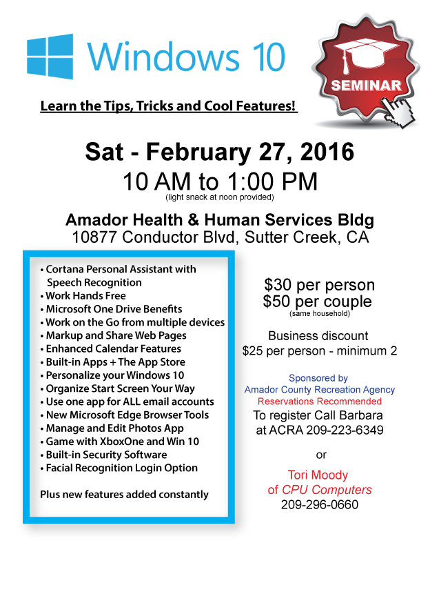 Windows Seminar - Feb 27
