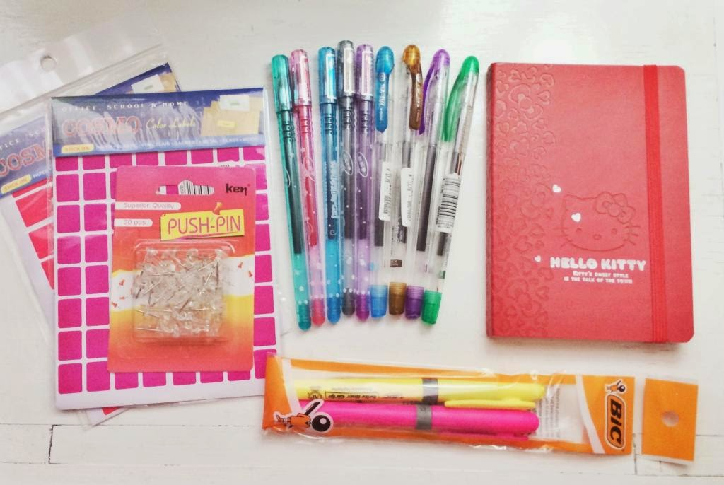 sharpie pens markers hello kitty notebook my gel pens colored pens colorful craft supplies haul collection pin sticker bic journal