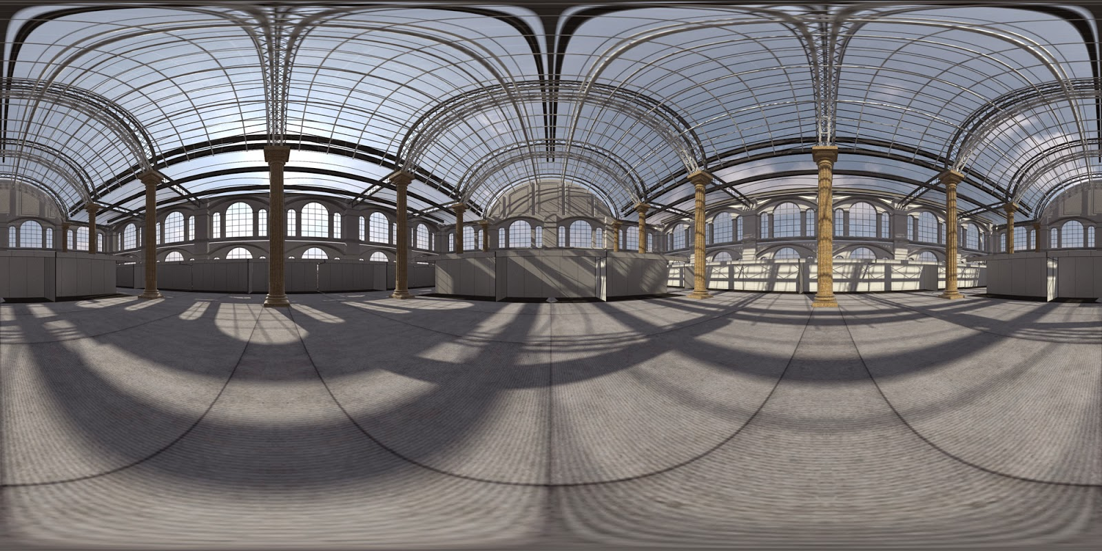 Free Expo Hall Interior Hdri Vrayforc4d Official Support
