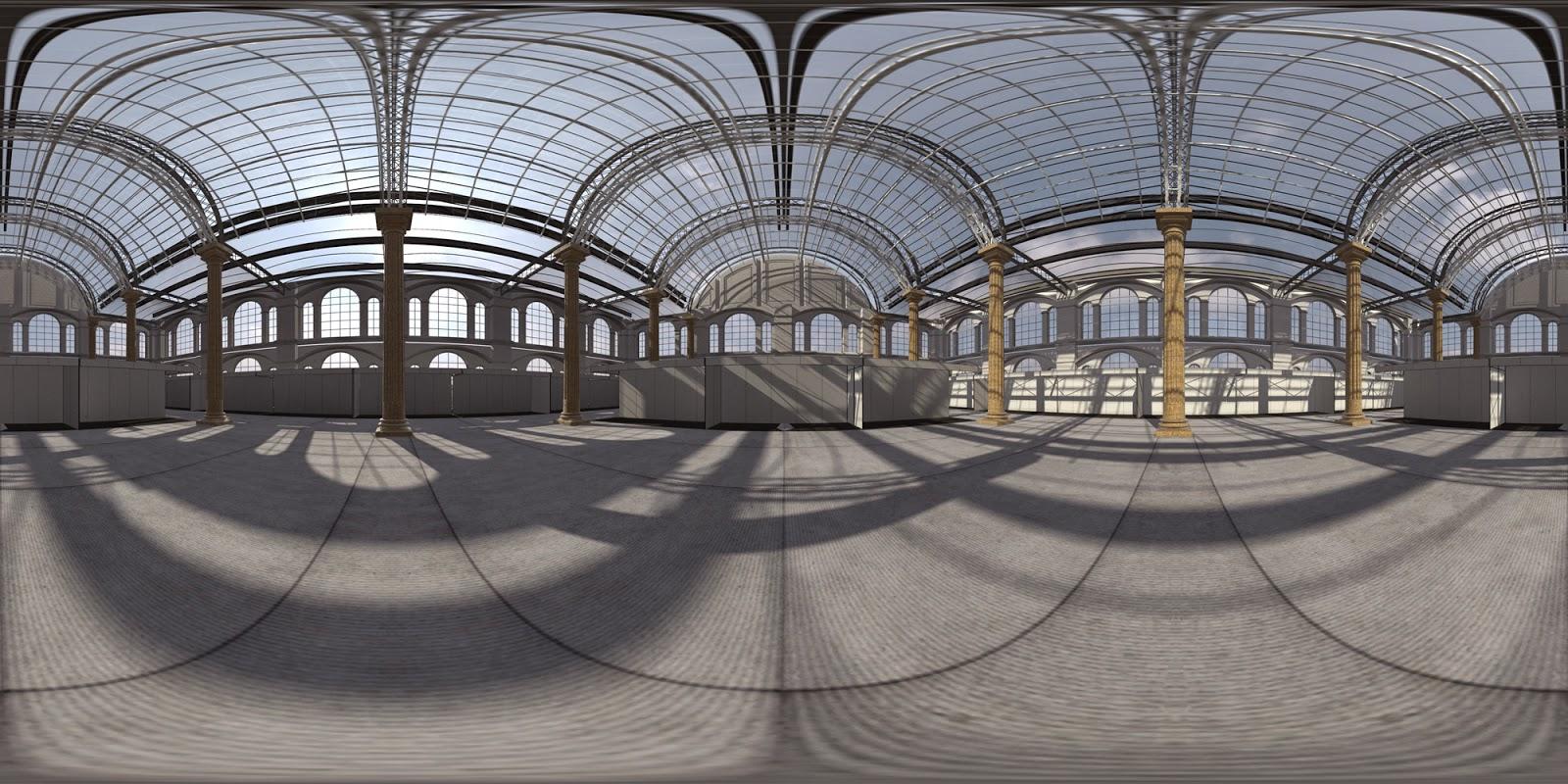 D Max Exhibition Hall : Free hdri expo hall interior