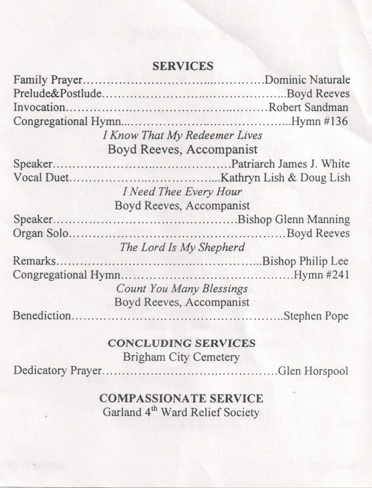 Catholic Funeral Template. funeral service template free memorial ...