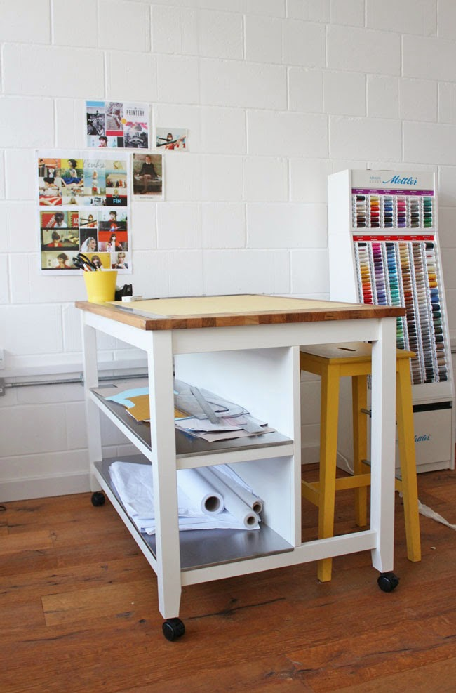 Trend The other great thing about this table is that it es with storage solutions It has two long shelves down one side the ideal size for stashing drafting