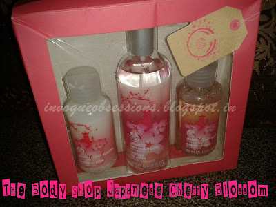 The Body Shop Japanese Cherry Blossom Mist, Shower Gel and Body Lotion India