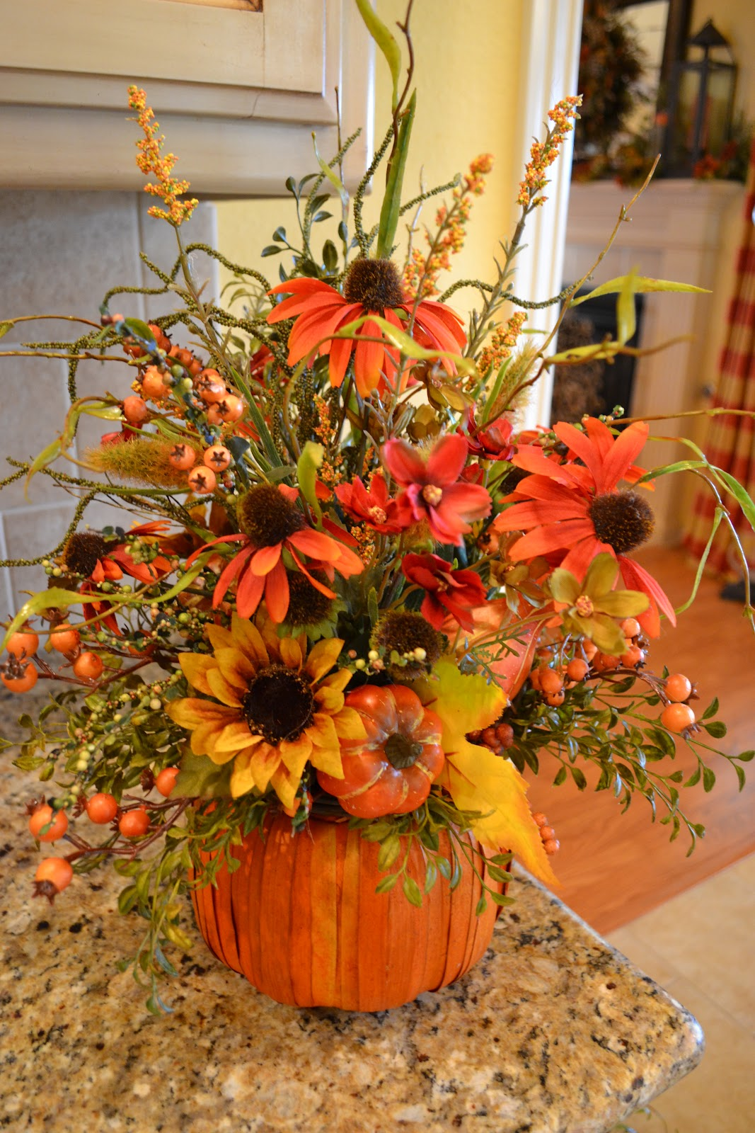 Kristen 39 s creations share your creations party 55 for Autumn flower decoration